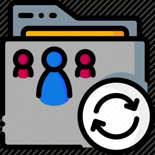 colour, folder, folders, reload, ultra icon