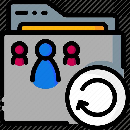 colour, folder, folders, ultra, undo icon