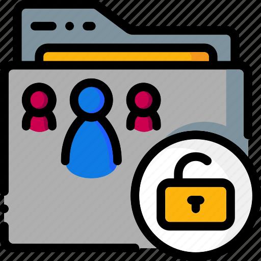 Folders, colour, ultra, folder, unlock icon