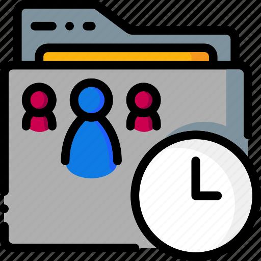 colour, folders, please, shared, ultra, wait icon