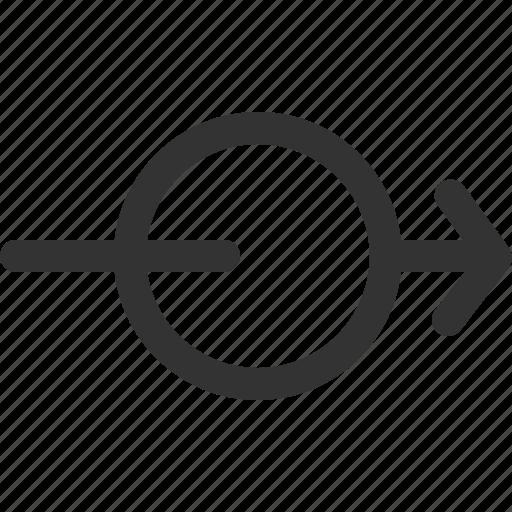 arrow, cursor, hint, indicator, right, sharpicons, signs icon