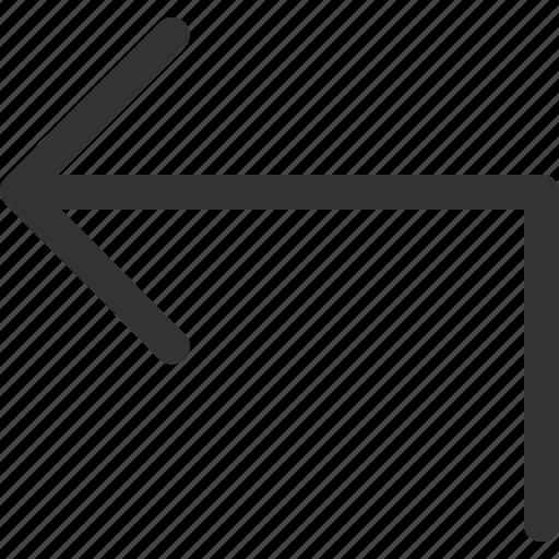 arrow, cursor, indicator, left, sharpicons, signs, turn icon