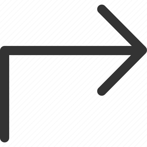 arrow, cursor, indicator, right, sharpicons, signs, turn icon
