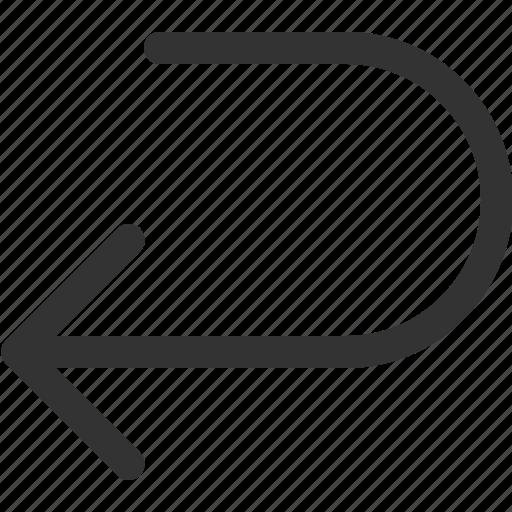 arrow, back, cursor, indicator, left, sharpicons, signs icon