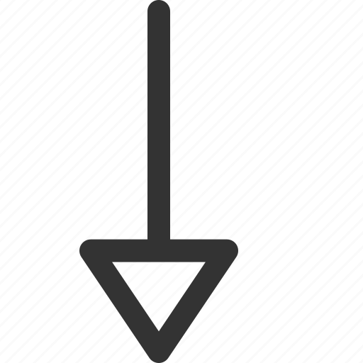 arrow, bottom, cursor, hint, indicator, sharpicons, signs icon