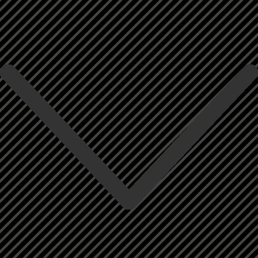 arrow, big, bottom, cursor, indicator, sharpicons, signs icon