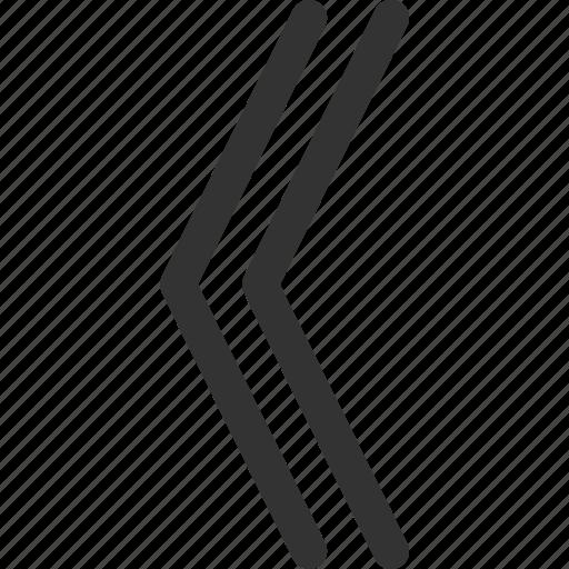 arrow, cursor, double, indicator, left, sharpicons, signs icon