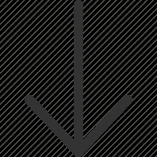 cursor, down, hint, indicator, pointer, sharpicons, signs icon
