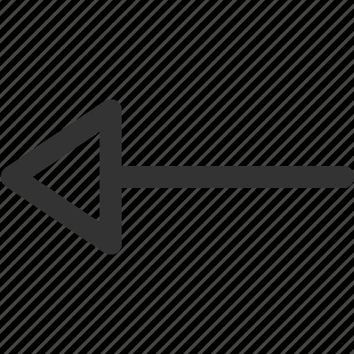 arrow, cursor, hint, indicator, left, sharpicons, signs icon