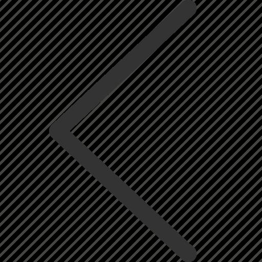 arrow, big, cursor, indicator, left, sharpicons, signs icon