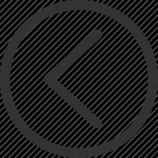 circle, cursor, hint, indicator, left, sharpicons, signs icon