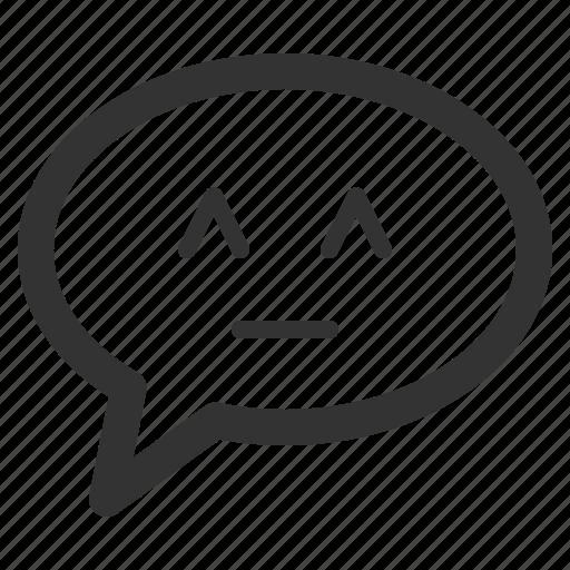 bubble, chat, conversation, cute, mind, sharpicons icon