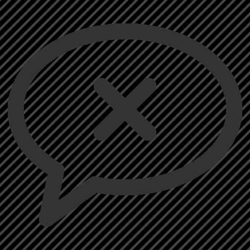 bubble, chat, conversation, delete, mind, sharpicons icon