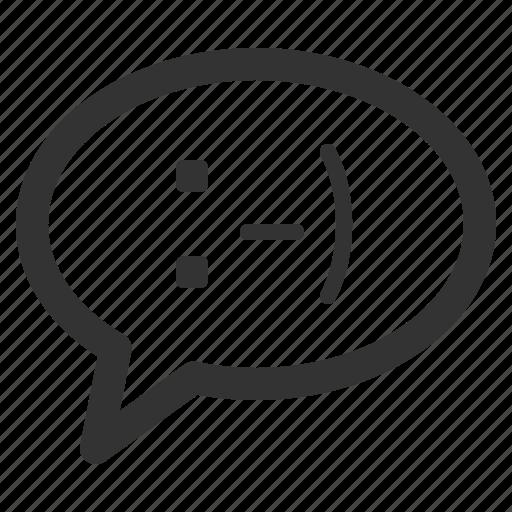 bubble, chat, conversation, happy, mind, sharpicons icon
