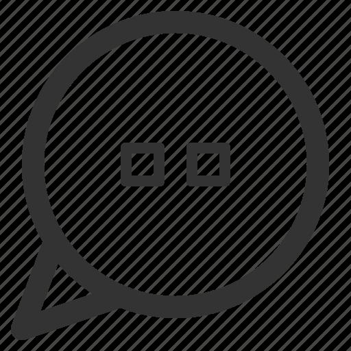 bubble, chat, conversation, loading, mind, sharpicons icon
