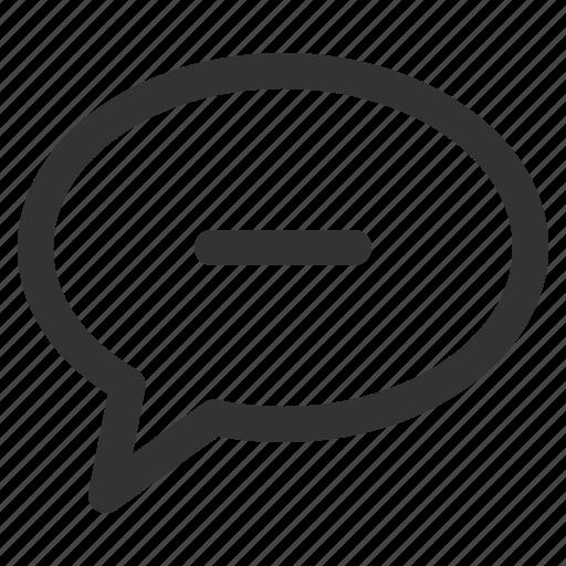 bubble, chat, conversation, mind, remove, sharpicons icon