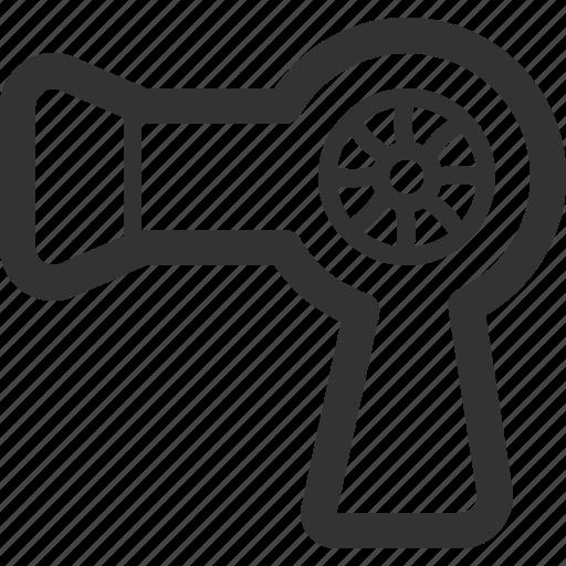appliances, consumer, dryer, electronics, hair, home, sharpicons icon