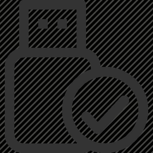 confirm, devices, hardware, pc, sharpicons, stick, usb icon