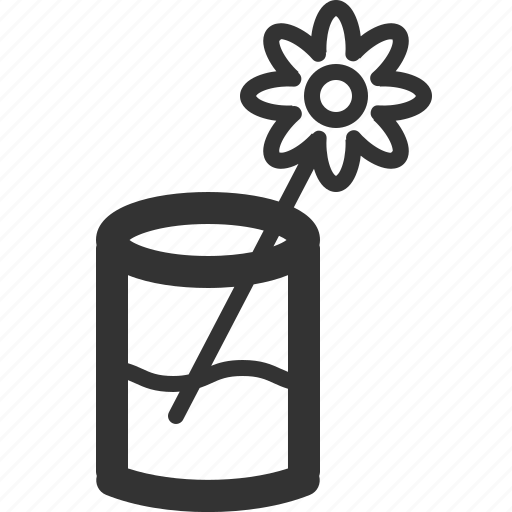 ecology, efficiency, energy, flower, glass, power, sharpicons icon