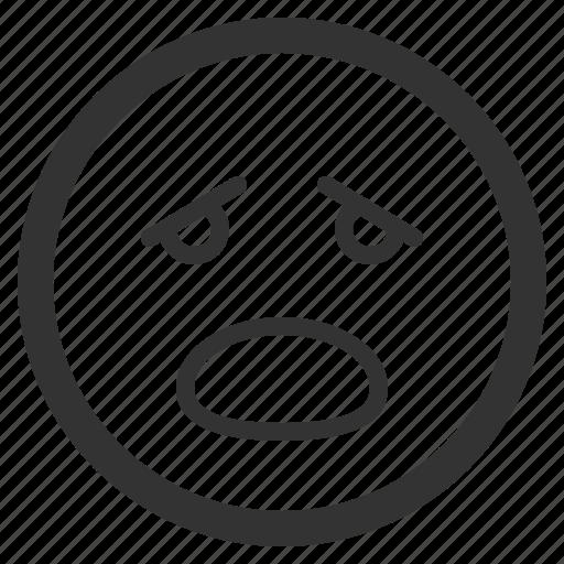 chat, emoji, emoticons, face, gasp, sharpicons, texting icon