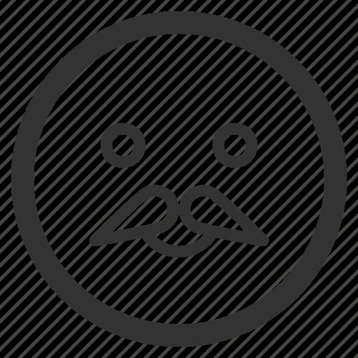 chat, emoji, emoticons, face, grandpa, sharpicons, texting icon