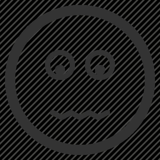 chat, emoji, emoticons, face, sad, sharpicons, texting icon