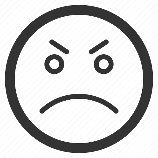 angry, chat, emoji, emoticons, face, sad, sharpicons icon
