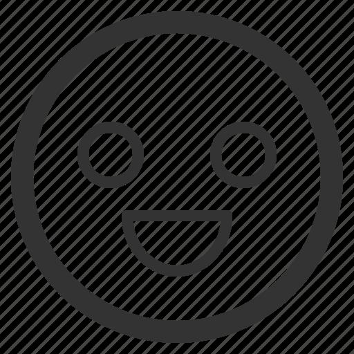 chat, emoji, emoticons, face, sharpicons, smile, texting icon