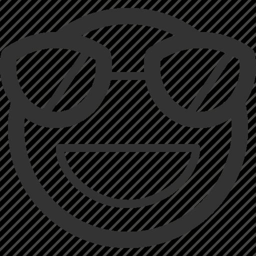 chat, emoji, emoticons, face, sharpicons, smile, sunglasses icon