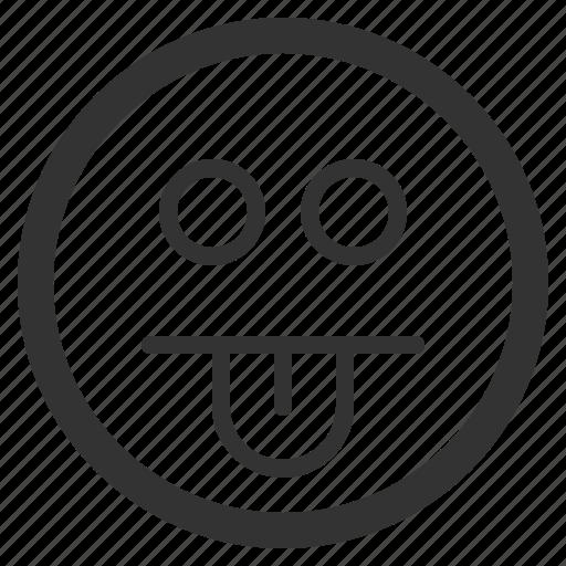 chat, emoji, emoticons, face, sharpicons, texting, tongue icon