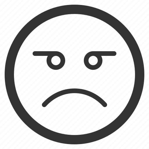chat, emoji, emoticons, face, sharpicons, texting, unhappy icon