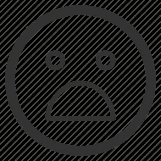 chat, emoji, emoticons, face, sharpicons, texting, upset icon