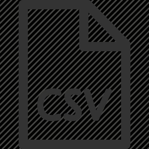 computer, csv, data, file, formats, sharpicons, types icon