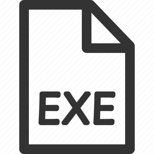 computer, data, exe, file, formats, sharpicons, types icon
