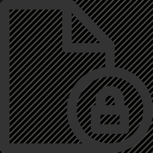 computer, data, file, formats, locked, sharpicons, types icon