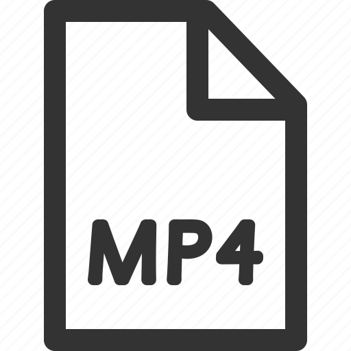 computer, data, file, formats, mp4, sharpicons, types icon
