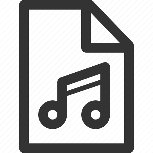 computer, data, file, formats, music, sharpicons, types icon