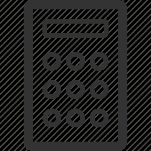 business, calculator, commerce, economics, finance, sharpicons icon