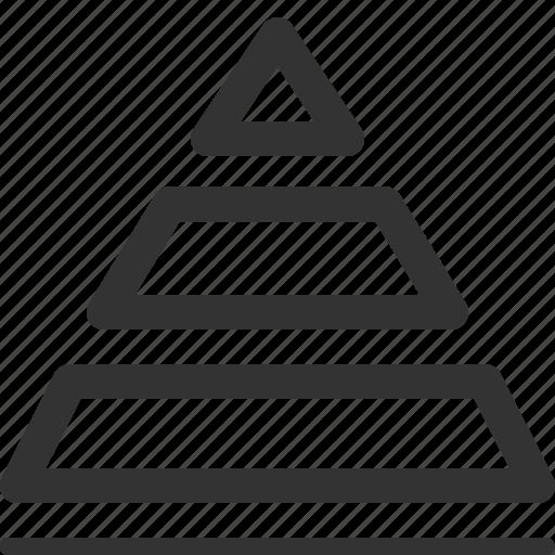 business, commerce, economics, finance, pyramid, sharpicons icon