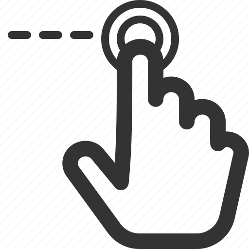 gesture, left, point, screen, sharpicons, touch icon