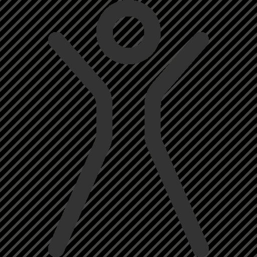 achieved, athlete, body, fitness, goal, health, sharpicons icon