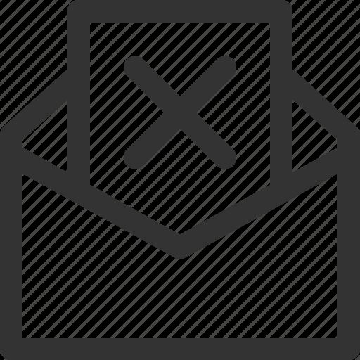 communication, delete, letter, mail, message, post, sharpicons icon