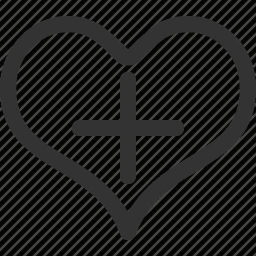clinic, cross, health, heart, hospital, medical, sharpicons icon