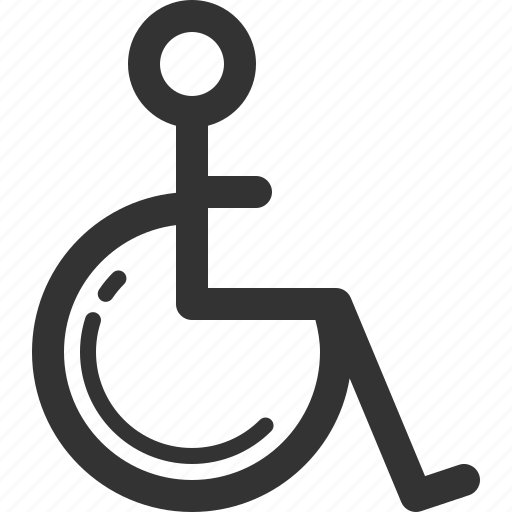 clinic, health, hospital, medical, patient, sharpicons, wheelchair icon