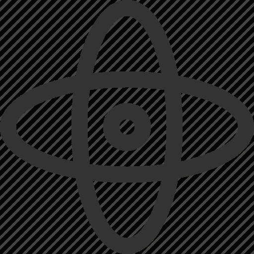 atom, education, learning, school, science, sharpicons icon