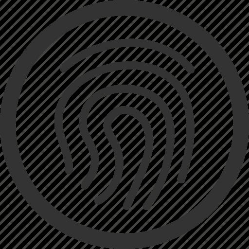 defense, fingerprint, insurance, security, sharpicons, surveillance icon