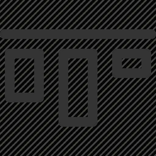 align, horizontal, sharpicons, top icon