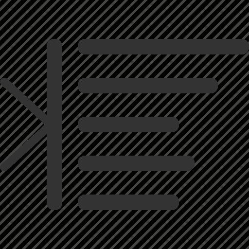 indent, margin, right, sharpicons icon