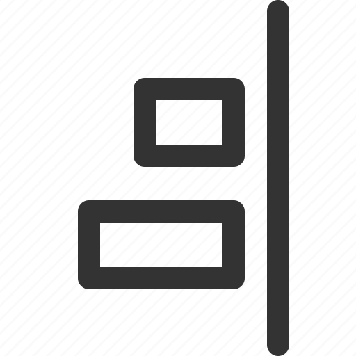align, right, sharpicons, vertical icon