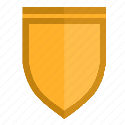 gothic, long, safety, security, shield icon
